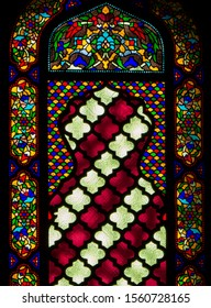 Istanbul, Turkey - October 30, 2019: Stained glass in the Sultan Ahmed Mosque (or The Blue Mosque).