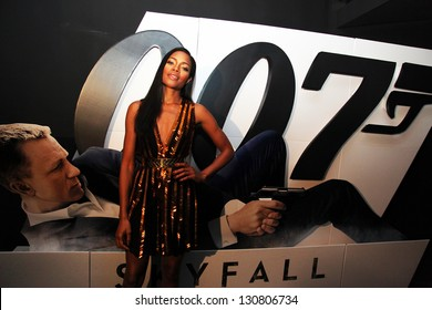 ISTANBUL, TURKEY - OCTOBER 30: Famous English actress Naomie Harris at the 23rd James Bond film Skyfall's Istanbul Premiere on October 30, 2012 in Istanbul, Turkey. Harris playing Eve Moneypenny.