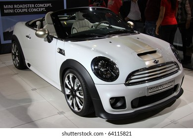 ISTANBUL, TURKEY - OCTOBER 30: Mini Roadster Concept at 13th International Auto Show on October 30, 2010 in Istanbul, Turkey.