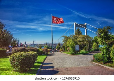 ISTANBUL, TURKEY: Otagtepe park with the view of Fatih Sultan Mehmet Bridge in Beykoz in Istanbul, on October 27, 2018