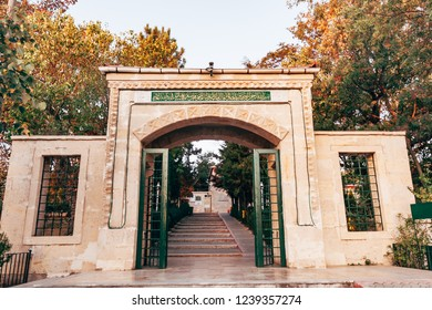 Istanbul, Turkey - SEP 12, 2008: Tomb of the Prophet Joshua, Yusa located on the highest hill of Istanbul around Beykoz