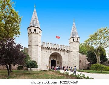 ISTANBUL, TURKEY - SEPTEMBER 06, 2014: Topkapi palace on September 06, 2014 in Istanbul, Turkey.