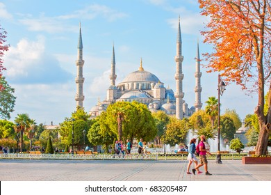 ISTANBUL, TURKEY - SEPTEMBER 13, 2016: The Blue Mosque, (Sultanahmet Camii), Istanbul, Turkey.