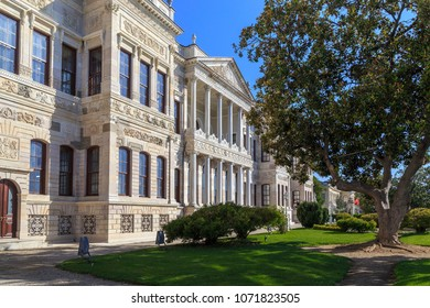 ISTANBUL, TURKEY - SEPTEMBER 13, 2017: This building is the National Museum of Palace Painting.It is the National Museum of Palace Painting in the Dolmabahce Palace Complex.