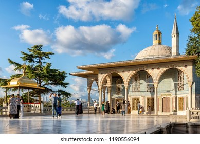 ISTANBUL, TURKEY, SEPTEMBER 19, 2018: Exterior shot of Baghdad Kiosk inside Topkapi Palace, It was built in 1639 to commemorate the Baghdad campaign of Sultan Murat IV.