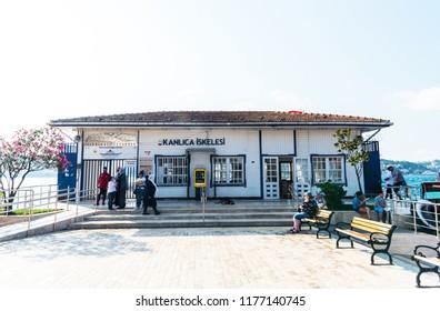 ISTANBUL, TURKEY - SEPTEMBER 2, 2018: KANLICA PORT in Kanlica District. Beykoz, Istanbul, Turkey.