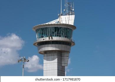 ISTANBUL, TURKEY - SEPTEMBER 20, 2019: Ataturk Airport Old Flight Control Tower.