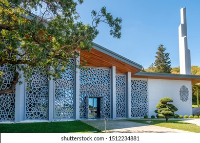 ISTANBUL, TURKEY, SEPTEMBER 22, 2019: Exterior view of July 15 Museum of Memory (Hafıza 15 Temmuz Müzesi),  made in memory of those killed in the coup attempt on July 15, 2016