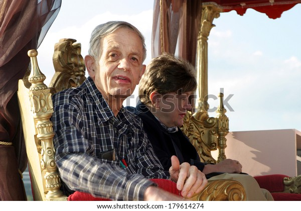 ISTANBUL, TURKEY - SEPTEMBER 24: Famous American mathematician John Nash on September 24, 2005 in Istanbul, Turkey. His theories are used in market economics, computing, politics and military theory.