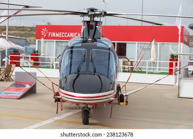 ISTANBUL, TURKEY - SEPTEMBER 27, 2014: AgustaWestland AW109SP GrandNew in Istanbul Airshow which held in Ataturk Airport