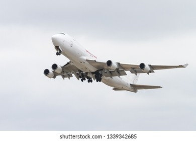 ISTANBUL, TURKEY - SEPTEMBER 30, 2018: Kalitta Air Boeing 747-481F (CN 34016) takes off from Istanbul Ataturk Airport. Kalitta Air has 18 fleet size and 25 destinations