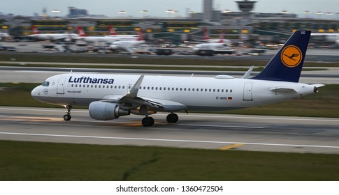 ISTANBUL, TURKEY - SEPTEMBER 30, 2018: Lufthansa Airbus A320-214 (CN 3303) takes off from Istanbul Ataturk Airport. Lufthansa has 285 fleet size and 220 destinations