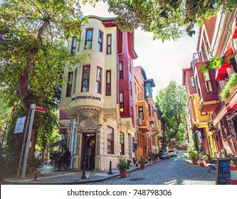 ISTANBUL, TURKEY: Traditional Kuzguncuk houses in Uskudar district on October 10, 2017