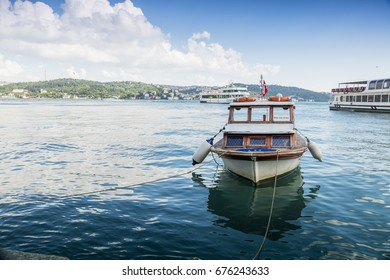 Istanbul, Turkey-July 8,2017: boat in the river