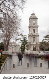 Istanbul,Besiktas / Turkey - 01 07 2019: Dolmabahce Clock Tower