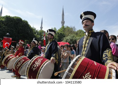 ISTANBUL,MAY 29: The 559th anniversary of  Istanbul Conquest was marked with many events. Ottoman army band performed a show on May 29,2012 in Istanbul,Turkey