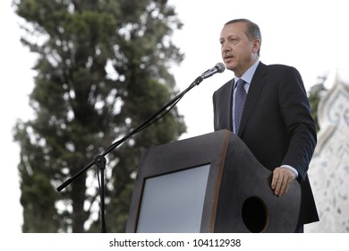 ISTANBUL-MAY 29:The 559th anniversary of Istanbul Conquest was marked with many events on May 29 in Istanbul,Turkey. Fatih Mosque was reopened for worship by Prime Minister Recep Tayyip Erdogan.