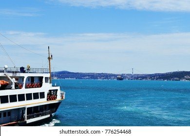 Istanbul's iconic ferry sails thought Bosphorus on route to Asian side