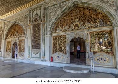 Istanbul/Turkey - 06.02.2018: Topkapi Palace (Seraglio) interiors