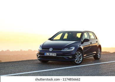 Istanbul/Turkey - 10.20.2017: Volkswagen Golf looks like classy at sunrise.