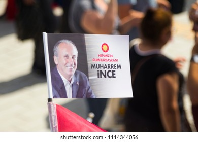 ISTANBUL,TURKEY- 16 JUNE,2018:Turkey is preparing to choose from.In the picture, Muharrem İnce, the candidate of the Republican People's Party's President, is seen.