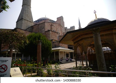 Istanbul/Turkey, April 2019; The exterior of Hagia Sophia. The Church of Holy Wisdom (Ayasofya)