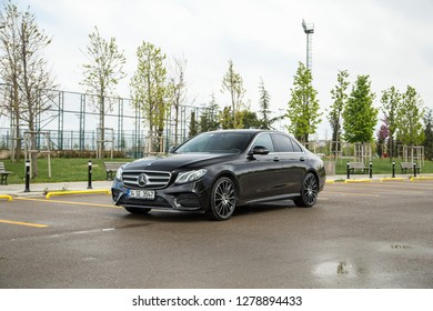 Istanbul/Turkey - April 23 2017 : Mercedes-Benz E-Class is a range of executive cars manufactured by German automaker Mercedes-Benz in various engine and body configurations.