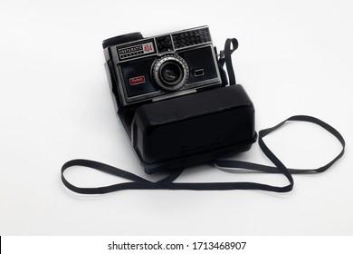 Istanbul-Turkey April 24, 2020 Kodak Instamatic 404 Vintage automatic camera.