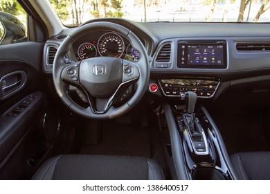 Istanbul/Turkey - April 30 2019 : Honda HR-V is a subcompact crossover SUV produced by Honda.