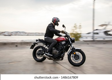 Istanbul/Turkey - August 14 2019 : Yamaha XSR700 is a motorcycle manufactured by Yamaha.