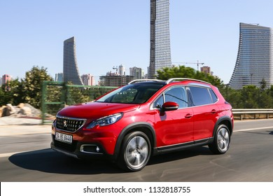 Istanbul/Turkey - August 18 2016 : Peugeot 2008 is a mini sport utility vehicle produced by the French manufacturer Peugeot. The 2008 replaced the Peugeot 207 SW.