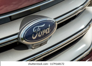 Istanbul/Turkey - August 30 2018 : Ford Edge is a mid-size crossover SUV manufactured by Ford Motor Company.