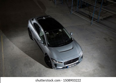 Istanbul/Turkey -August 6 2019 : Jaguar I-Pace is a battery-electric SUV car due to be produced by British automotive company Jaguar Land Rover (JLR) under their Jaguar marque.