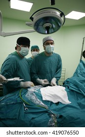 Istanbul,Turkey - February 03,2010 : Surgery in operating room.