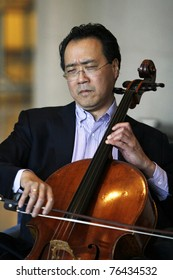 ISTANBUL,TURKEY - FEBRUARY 4: Grammy Award winning Chinese-American cellist Yo-Yo Ma performed on February 4,2009 at the Is-Sanat Culture Center in Istanbul