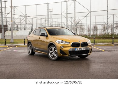 Istanbul/Turkey - January 7 2019 : BMW X2 is a subcompact luxury SUV manufactured by BMW.