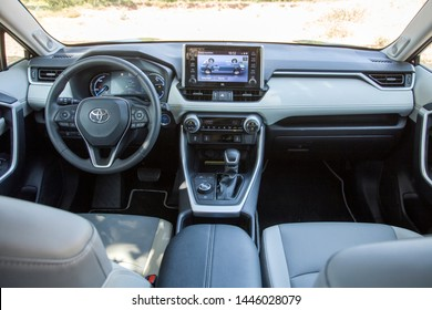 Istanbul/Turkey - July 1 2019 : Toyota RAV4 is a compact crossover SUV produced by the Japanese automobile manufacturer Toyota.