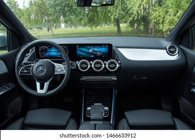 Istanbul/Turkey - July 11 2019 : Mercedes-Benz B-Class is a compact executive MPV (M-segment) produced by German automaker Mercedes-Benz since 2005. Mercedes-Benz markets it as a sports compact tourer