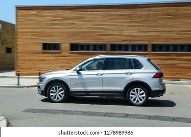 Istanbul/Turkey - July 13 2016 : Volkswagen Tiguan is a compact crossover vehicle (CUV) manufactured by German automaker Volkswagen.