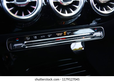 Istanbul/Turkey - July 14 2018 : Mercedes-Benz A-Class is a subcompact executive car produced by the German automobile manufacturer Mercedes-Benz. It has elegant interior design.