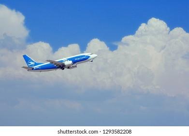 Istanbul/Turkey - July 2010 Dniproavia plane taking off