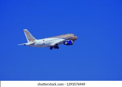 Istanbul/Turkey - July 2010 Gulf Air plane taking off