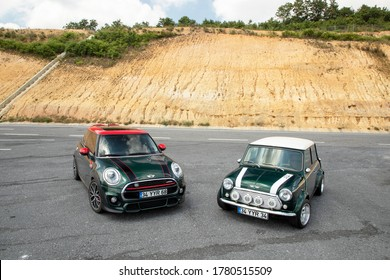 Istanbul/Turkey - July 6 2020 : Mini is a small economy car produced by the English-based British Motor Corporation (BMC) and its successors from 1959 until 2000