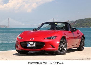 Istanbul/Turkey - June 15 2016 : Mazda MX-5, is a lightweight two-seater roadster with a front-engine, rear-wheel-drive layout.