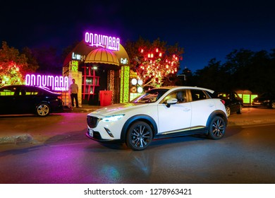 Istanbul/Turkey - June 15 2016 : Mazda CX-3 is a subcompact crossover SUV manufactured in Japan by Mazda.