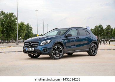 Istanbul/Turkey - June 19 2019 : Mercedes-Benz GLA-Class is a front-engine, front or four wheel drive five-door subcompact luxury crossover SUV automobile unveiled by manufacturer Mercedes-Benz.