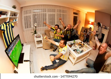 Istanbul/Turkey, June 2019; Fenerbahce Football Club Supporters at home