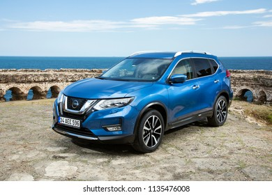 Istanbul/Turkey - June 28 2018 : Nissan X-Trail is a compact crossover produced by the Japanese automaker Nissan.