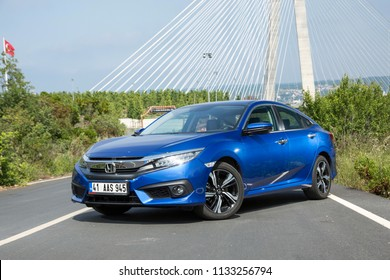 Istanbul/Turkey - June 7 2018 : Honda's 10th-generation Civic is now available with a 1.6-litre diesel engine.