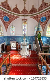 ISTANBUL,TURKEY- MARCH 06: Interior of the �§inili cami mosque on March 06, 2013 in Istanbul,Turkey.